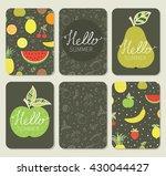 hello summer. calligraphy.... | Shutterstock .eps vector #430044427