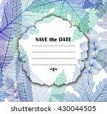 leaf vector blue background.... | Shutterstock .eps vector #430044505