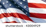 photo of american flag waving... | Shutterstock . vector #43004929