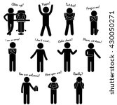 stick figure of man   person... | Shutterstock .eps vector #430050271