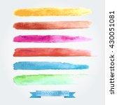 set of brush strokes created... | Shutterstock .eps vector #430051081