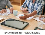 cropped image of business... | Shutterstock . vector #430052287
