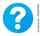 question icon flat vector...