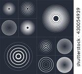 radar screen concentric circle...   Shutterstock .eps vector #430054939