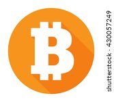 bitcoin sign icon flat network...