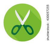 scissors icon flat vector sign...