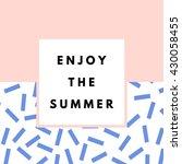 summer hipster boho chic... | Shutterstock .eps vector #430058455
