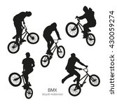black silhouettes of bmx riders ... | Shutterstock .eps vector #430059274