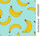 sweet bananas pattern with... | Shutterstock .eps vector #430060087