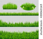 green grass borders isolated ... | Shutterstock .eps vector #430063165