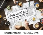design website create template... | Shutterstock . vector #430067695