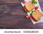 homemade sandwich with egg ... | Shutterstock . vector #430068034