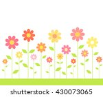 flowers growing on meadow.... | Shutterstock .eps vector #430073065