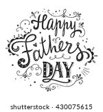 happy fathers day design. hand... | Shutterstock .eps vector #430075615