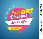 discount sticker. special offer ... | Shutterstock .eps vector #430087981