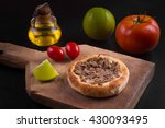 arabic meat sfiha over a wooden ... | Shutterstock . vector #430093495