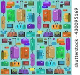 travel bags in various colors | Shutterstock .eps vector #430095169