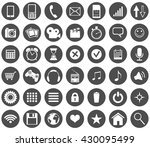 vector set of black circle... | Shutterstock .eps vector #430095499