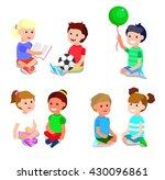 cute vector character child... | Shutterstock .eps vector #430096861