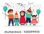children. celebration. birthday.... | Shutterstock .eps vector #430099945