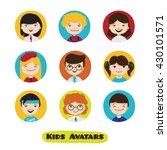 vector cute cartoon kids... | Shutterstock .eps vector #430101571