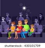 family movie poster or banner... | Shutterstock .eps vector #430101709