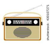 radio retro. vector concept... | Shutterstock .eps vector #430107271