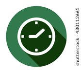 clock   icon   isolated. flat ... | Shutterstock .eps vector #430112665