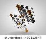 an array of gold  silver ... | Shutterstock . vector #430113544