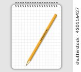 blank realistic spiral notepad... | Shutterstock .eps vector #430116427