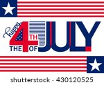 4th of july background. fourth... | Shutterstock .eps vector #430120525