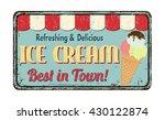 ice cream vintage rusty metal... | Shutterstock .eps vector #430122874