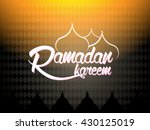 ramadan kareem typography...   Shutterstock .eps vector #430125019