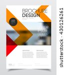 catalogue cover design. annual... | Shutterstock .eps vector #430126261