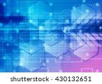 blue futuristic science... | Shutterstock . vector #430132651