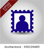 picture icon vector symbol flat ... | Shutterstock .eps vector #430134685