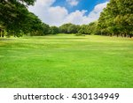 Green Lawn With Blue Sky And...