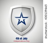 shield with usa independence... | Shutterstock .eps vector #430139665