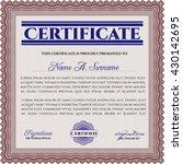 certificate template eps10 jpg... | Shutterstock .eps vector #430142695