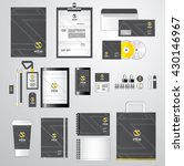 corporate identity template for ... | Shutterstock .eps vector #430146967