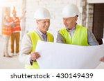 construction workers. team of... | Shutterstock . vector #430149439