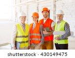 construction workers. team of...   Shutterstock . vector #430149475