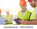 construction workers. project... | Shutterstock . vector #430150021