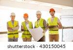 construction workers. team of...   Shutterstock . vector #430150045