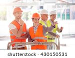 modern building and workers | Shutterstock . vector #430150531