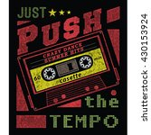 just push tee graphic   Shutterstock .eps vector #430153924