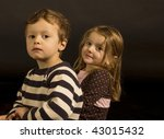 Portrait Of Fraternal Twins In...