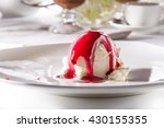 ice cream scoop with berry... | Shutterstock . vector #430155355