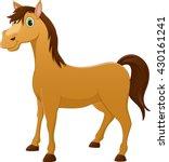 cute horse cartoon | Shutterstock .eps vector #430161241