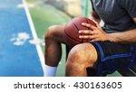 basketball athlete ball sport... | Shutterstock . vector #430163605